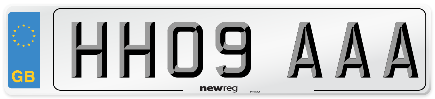 HH09 AAA Number Plate from New Reg
