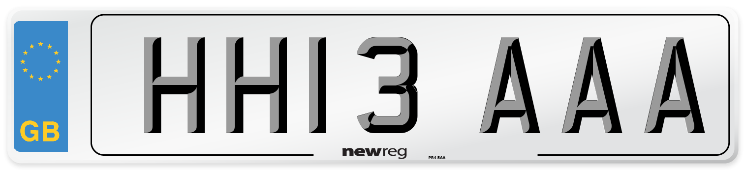 HH13 AAA Number Plate from New Reg