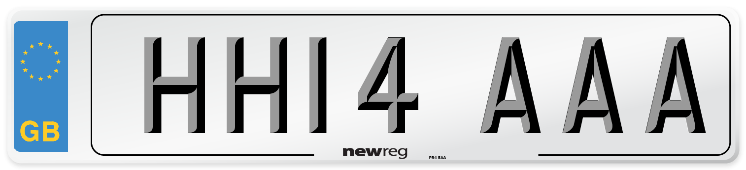 HH14 AAA Number Plate from New Reg