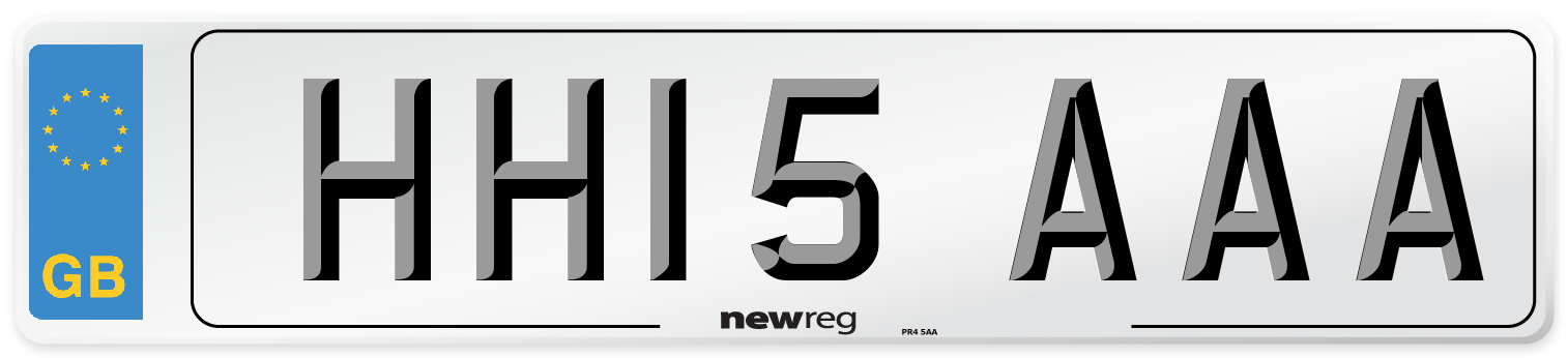 HH15 AAA Number Plate from New Reg