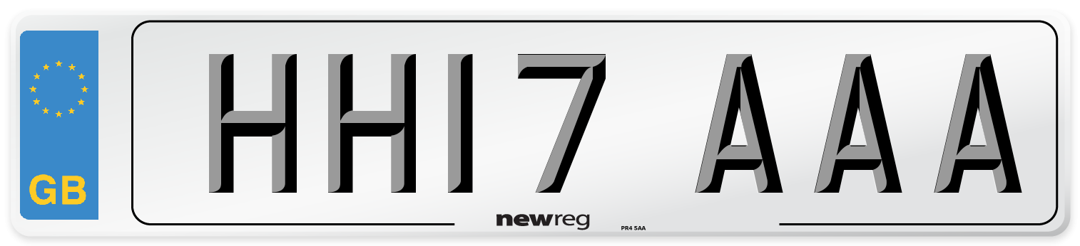 HH17 AAA Number Plate from New Reg