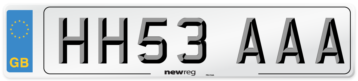 HH53 AAA Number Plate from New Reg