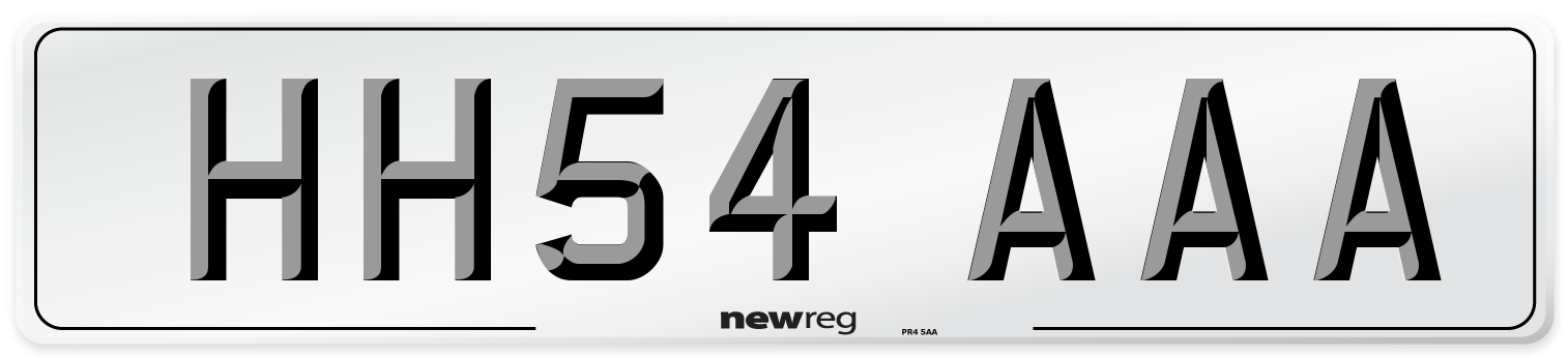 HH54 AAA Number Plate from New Reg