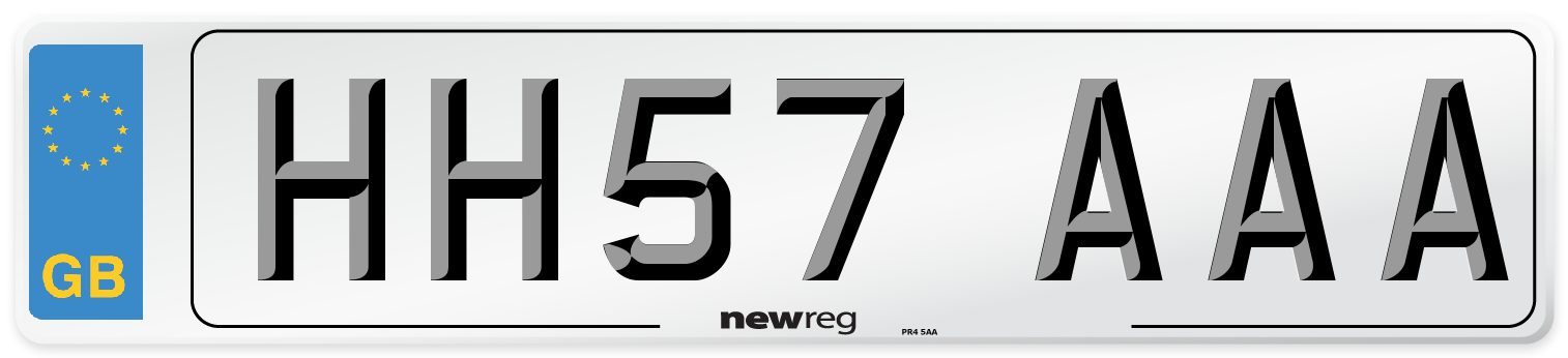 HH57 AAA Number Plate from New Reg