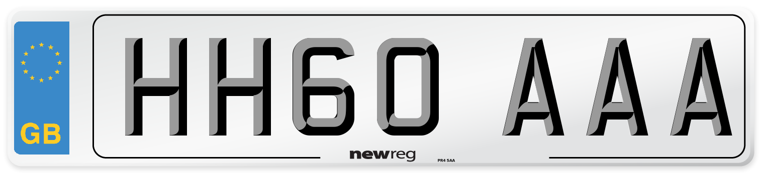 HH60 AAA Number Plate from New Reg