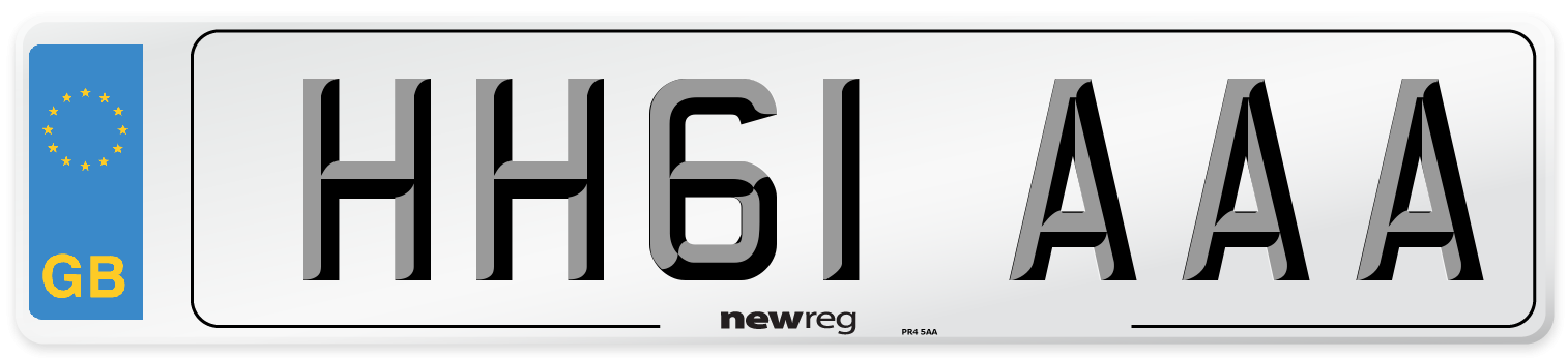 HH61 AAA Number Plate from New Reg