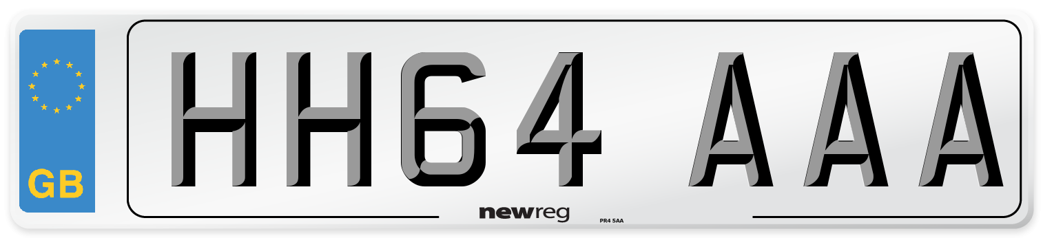 HH64 AAA Number Plate from New Reg