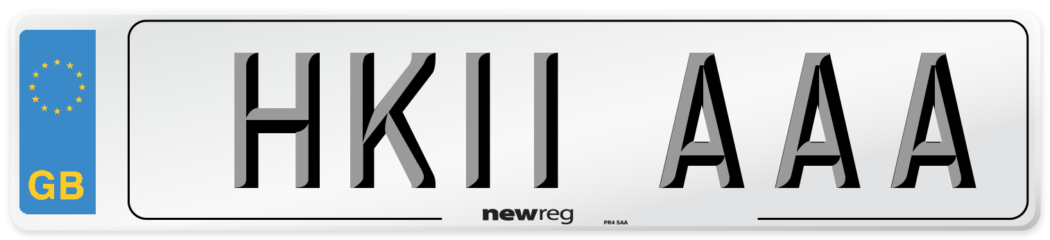 HK11 AAA Number Plate from New Reg