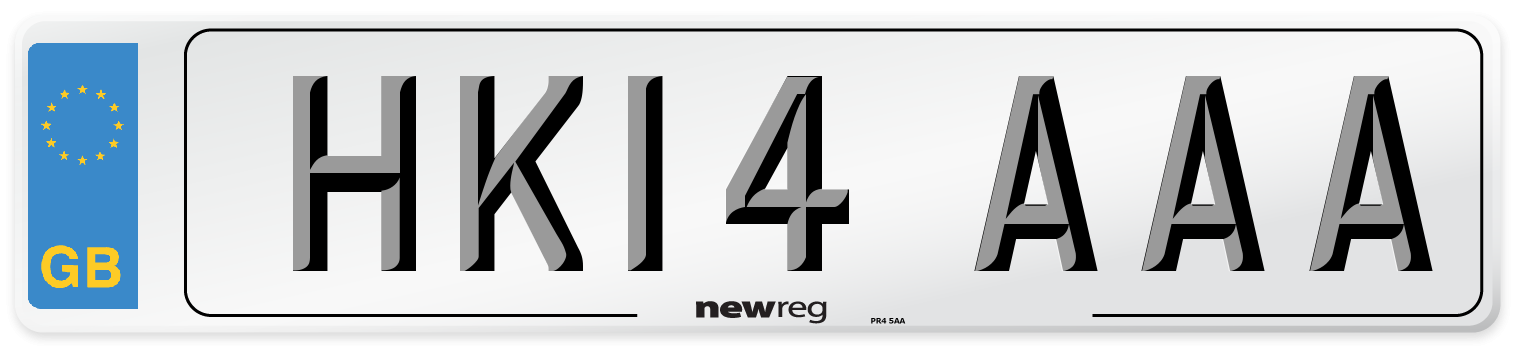HK14 AAA Number Plate from New Reg