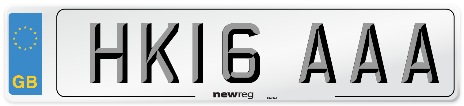HK16 AAA Number Plate from New Reg