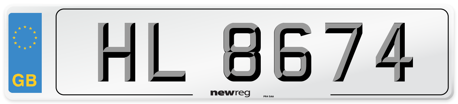 HL 8674 Number Plate from New Reg