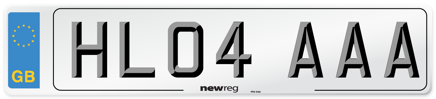 HL04 AAA Number Plate from New Reg