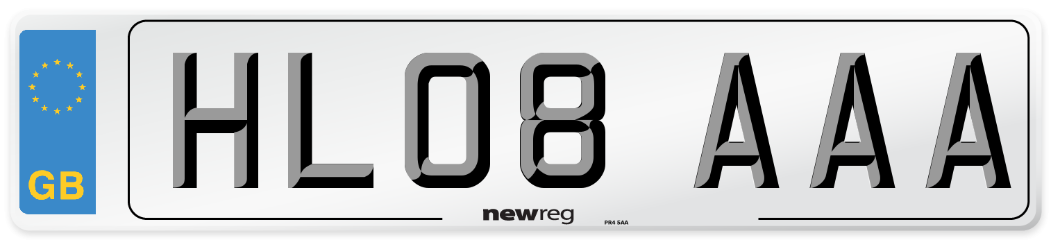 HL08 AAA Number Plate from New Reg