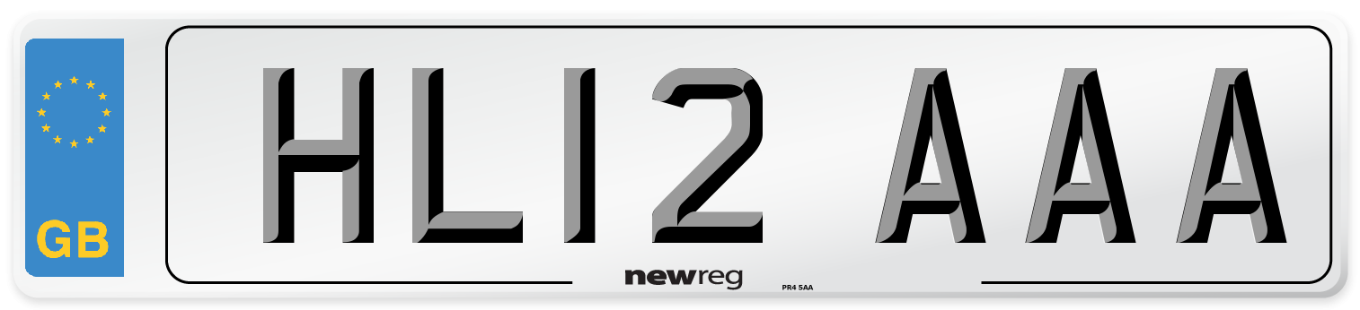 HL12 AAA Number Plate from New Reg
