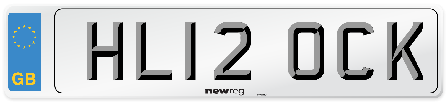 HL12 OCK Number Plate from New Reg