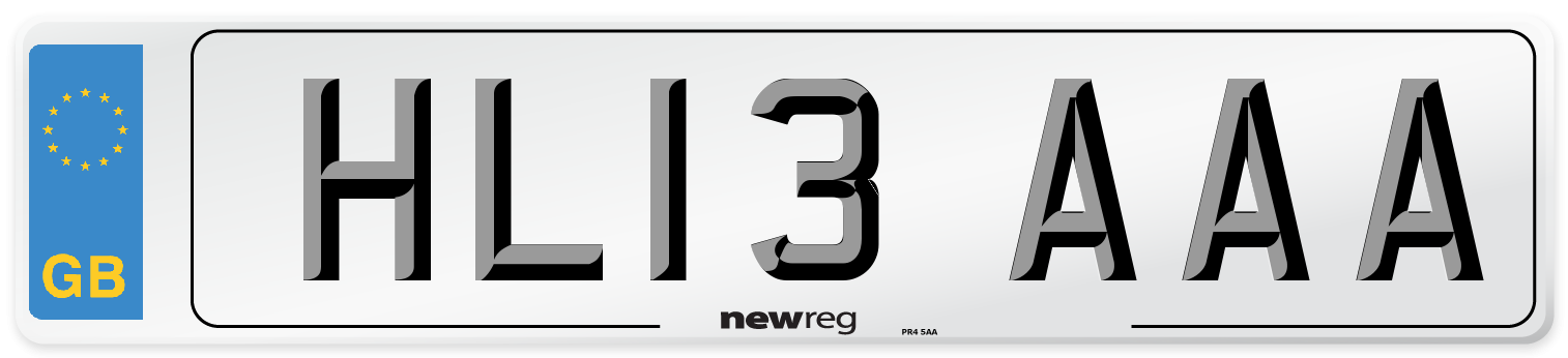 HL13 AAA Number Plate from New Reg