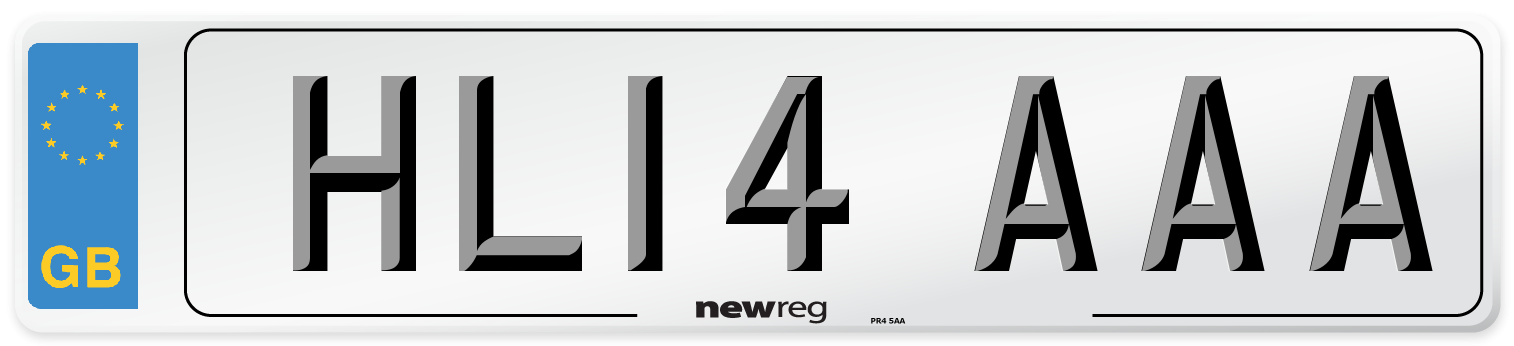 HL14 AAA Number Plate from New Reg