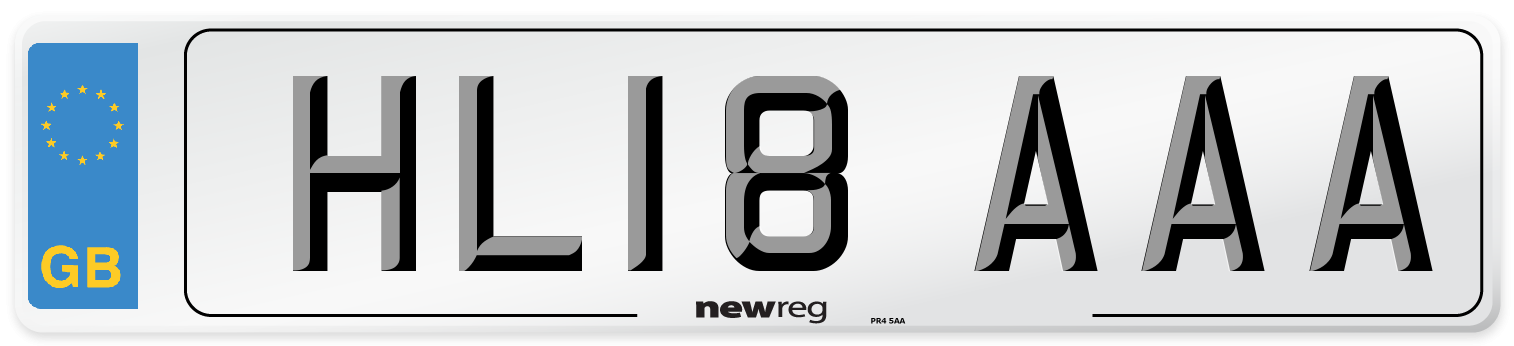 HL18 AAA Number Plate from New Reg