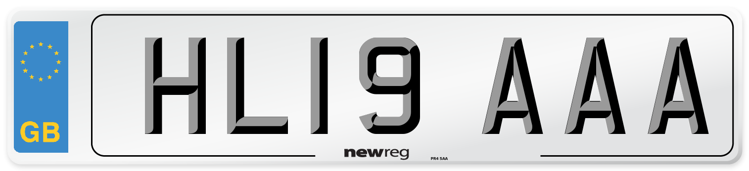 HL19 AAA Number Plate from New Reg