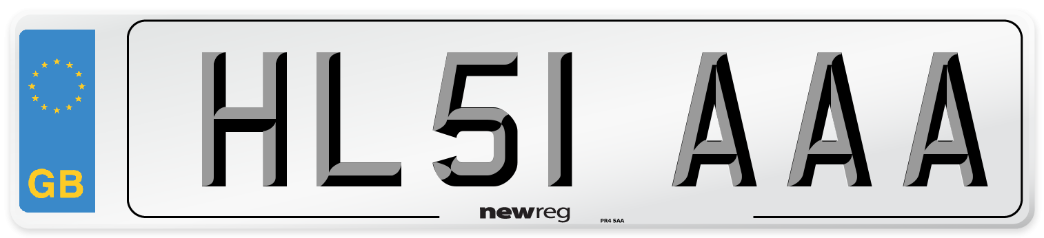 HL51 AAA Number Plate from New Reg