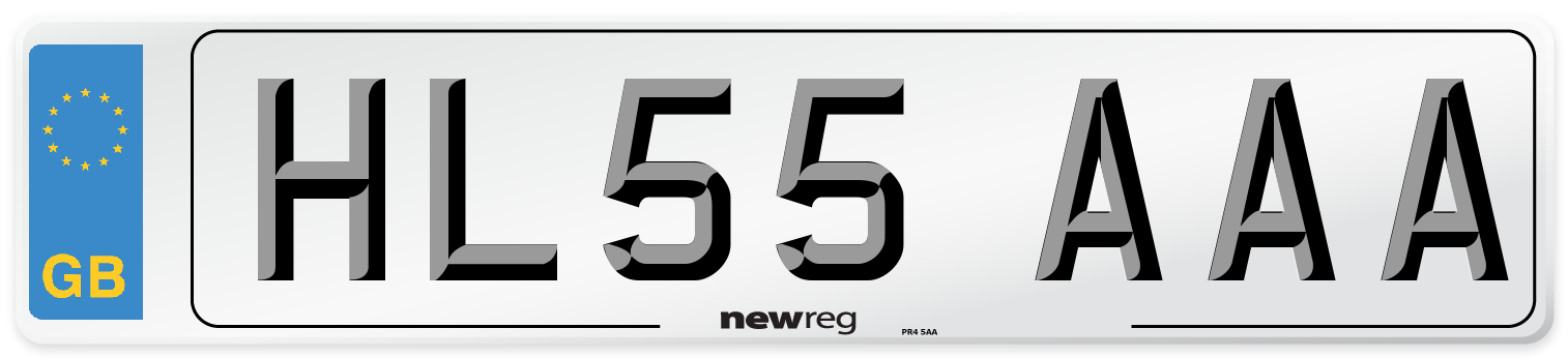 HL55 AAA Number Plate from New Reg
