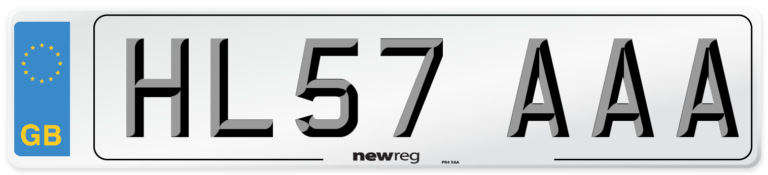 HL57 AAA Number Plate from New Reg