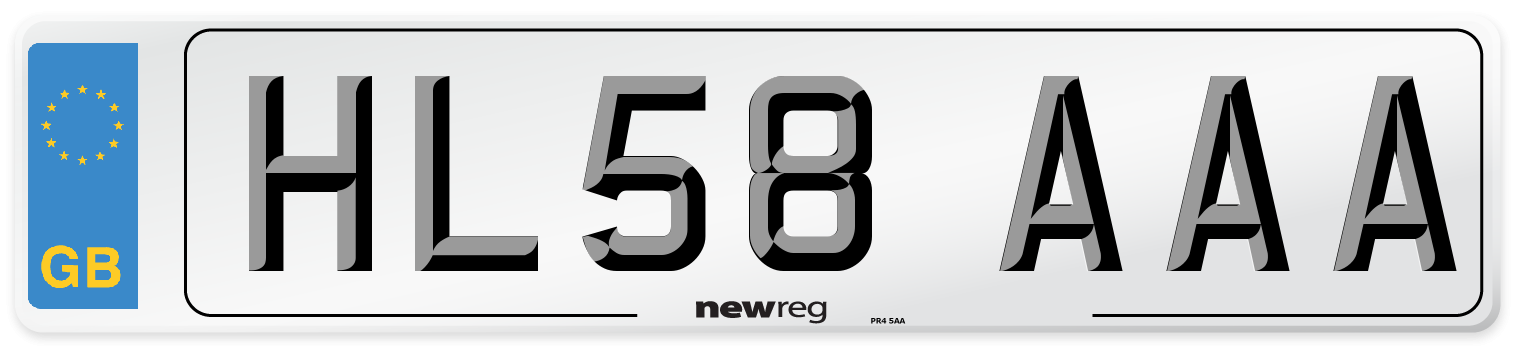HL58 AAA Number Plate from New Reg