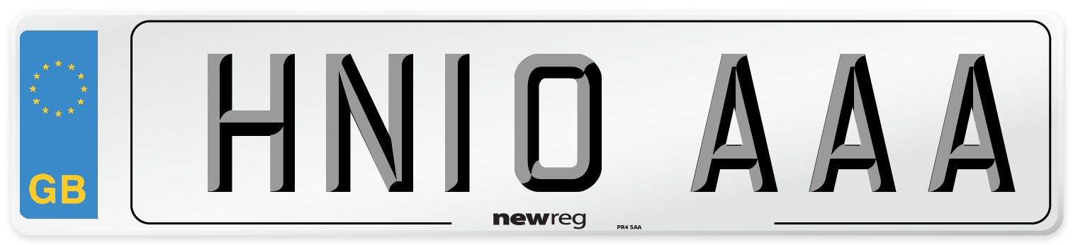HN10 AAA Number Plate from New Reg