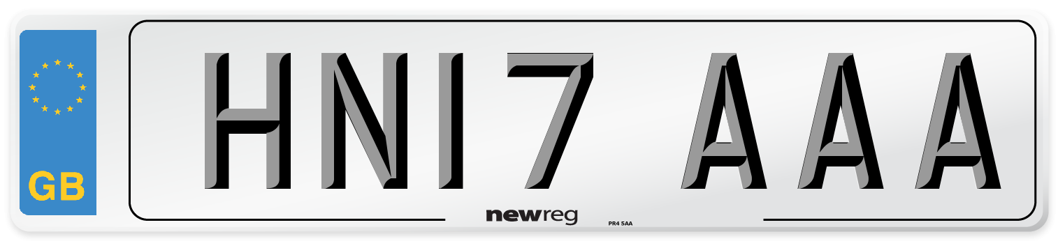 HN17 AAA Number Plate from New Reg