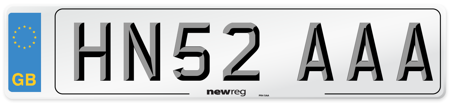 HN52 AAA Number Plate from New Reg