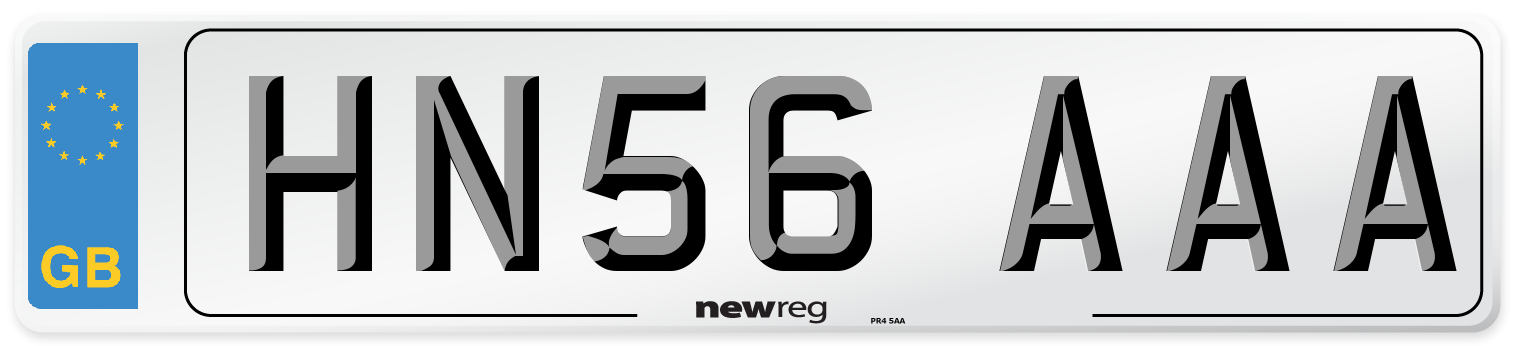HN56 AAA Number Plate from New Reg