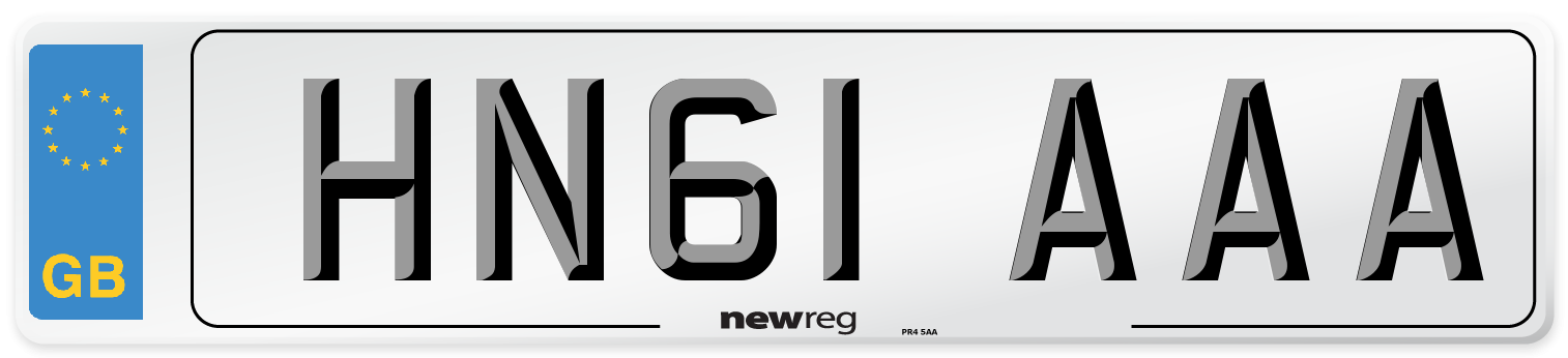 HN61 AAA Number Plate from New Reg