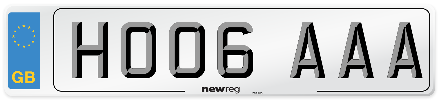 HO06 AAA Number Plate from New Reg