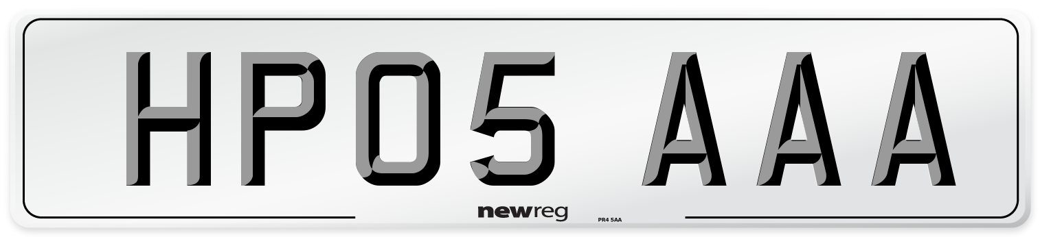 HP05 AAA Number Plate from New Reg