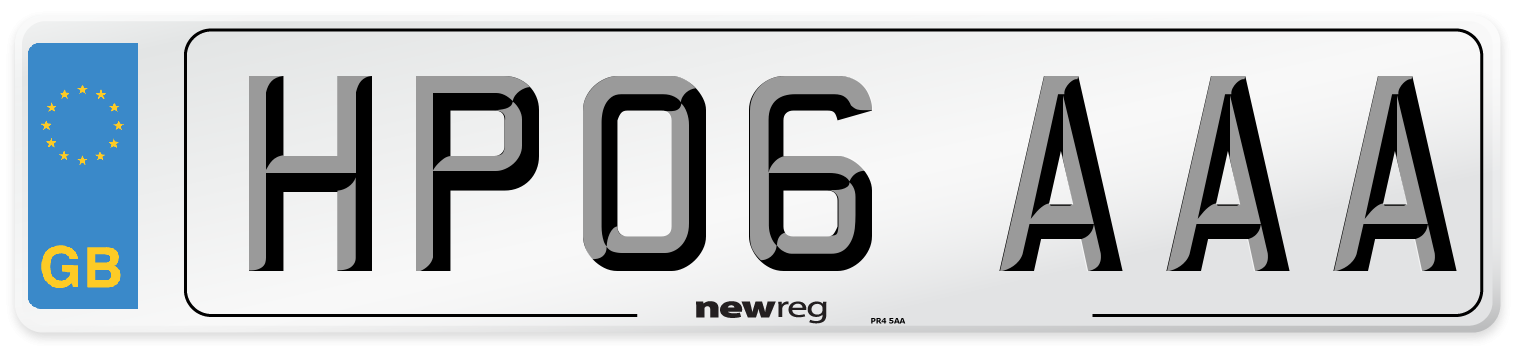 HP06 AAA Number Plate from New Reg