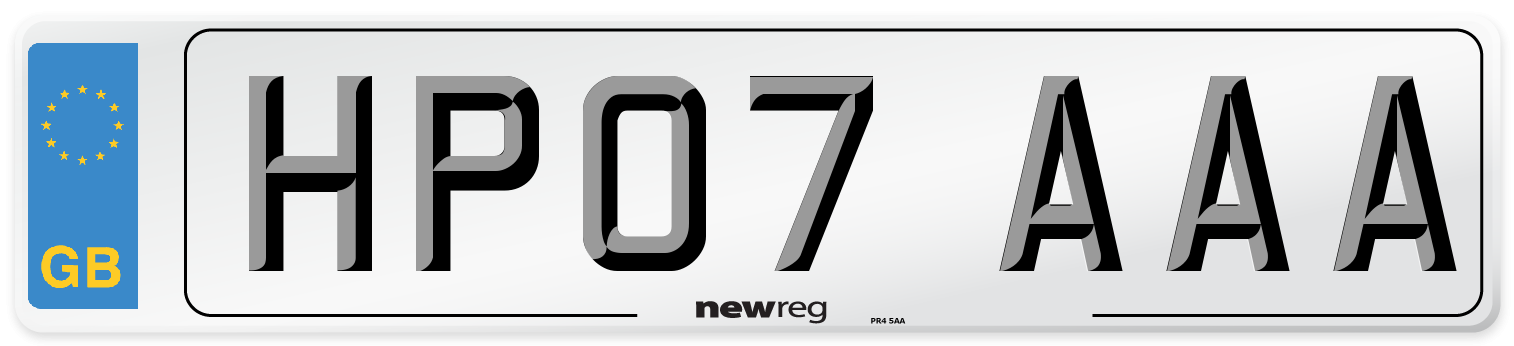 HP07 AAA Number Plate from New Reg