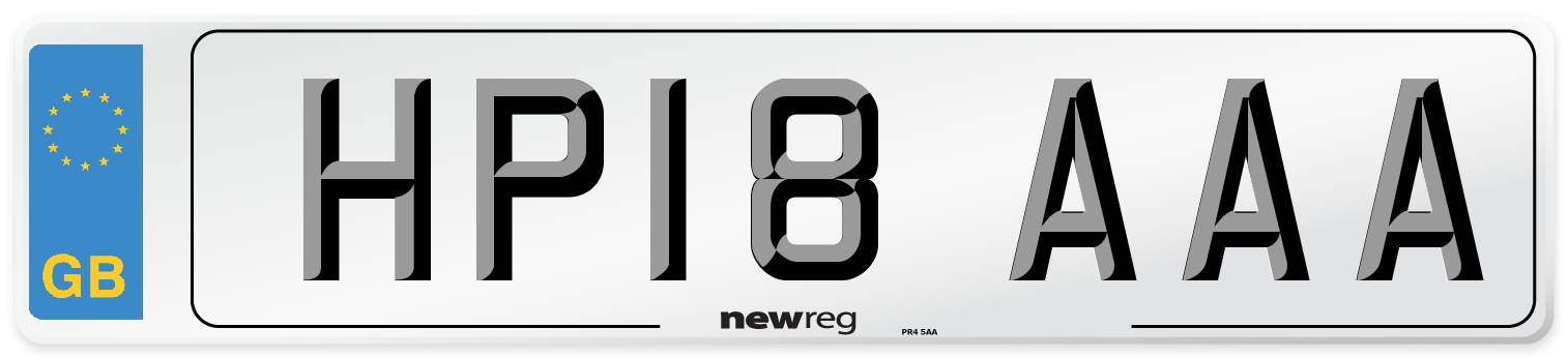 HP18 AAA Number Plate from New Reg