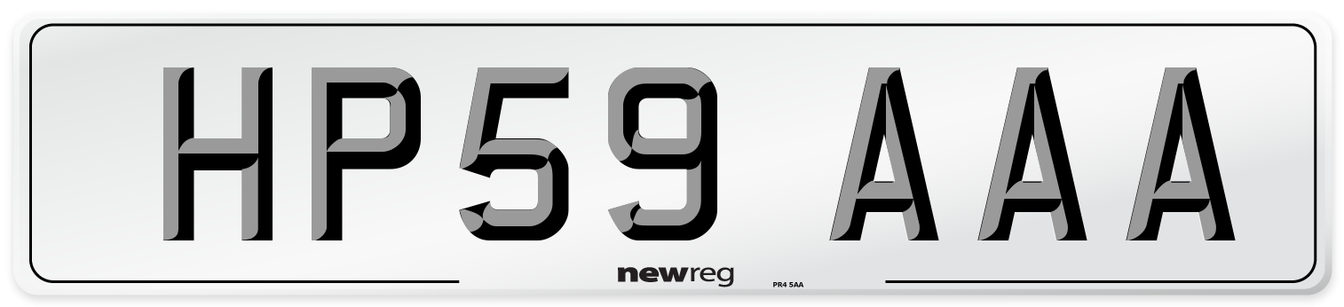 HP59 AAA Number Plate from New Reg