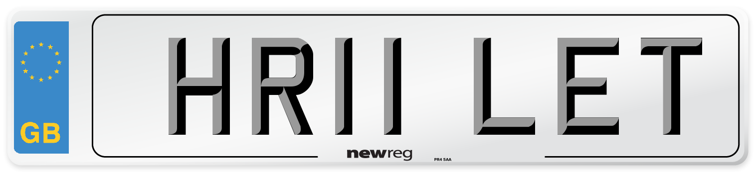 HR11 LET Number Plate from New Reg