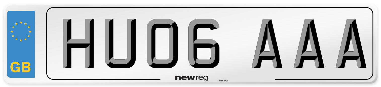 HU06 AAA Number Plate from New Reg