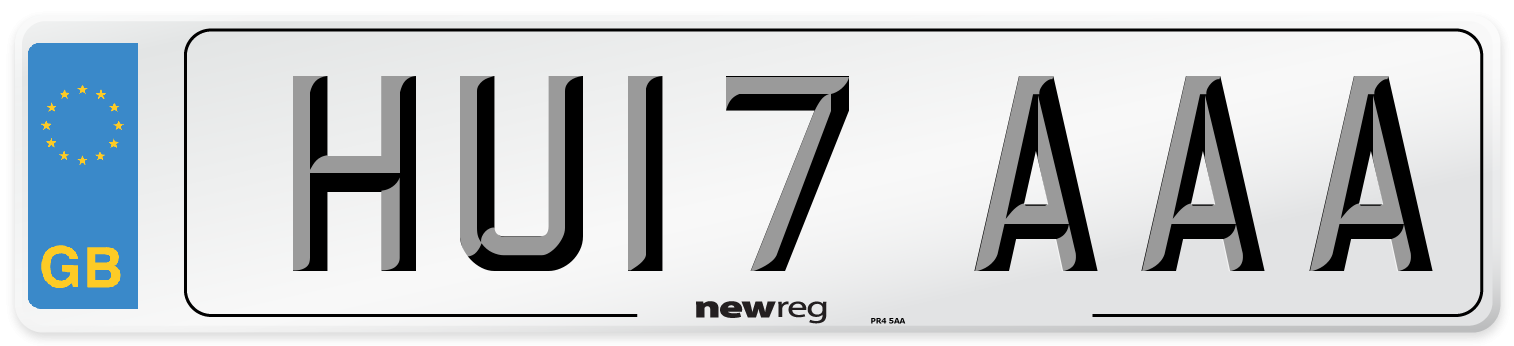 HU17 AAA Number Plate from New Reg