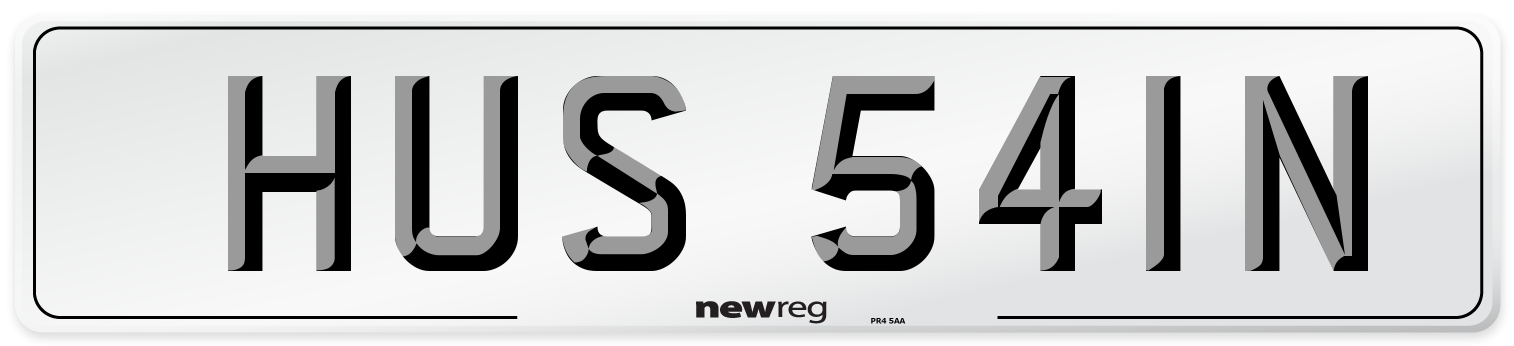 HUS 541N Number Plate from New Reg