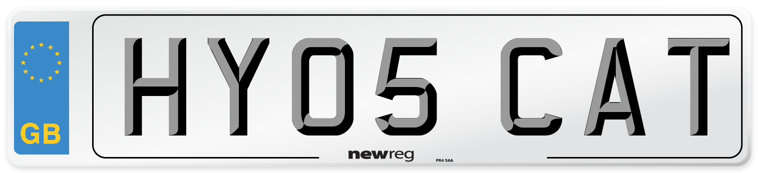 HY05 CAT Number Plate from New Reg