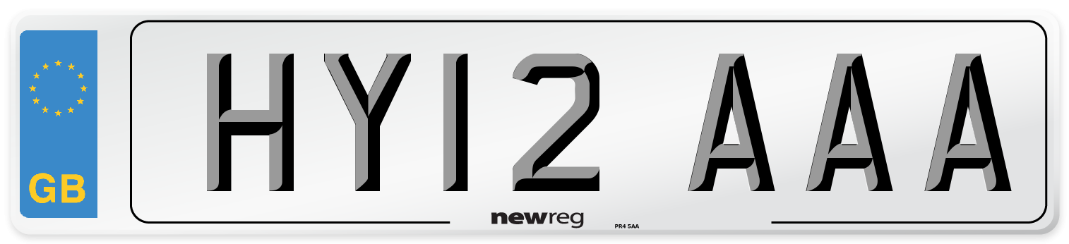 HY12 AAA Number Plate from New Reg