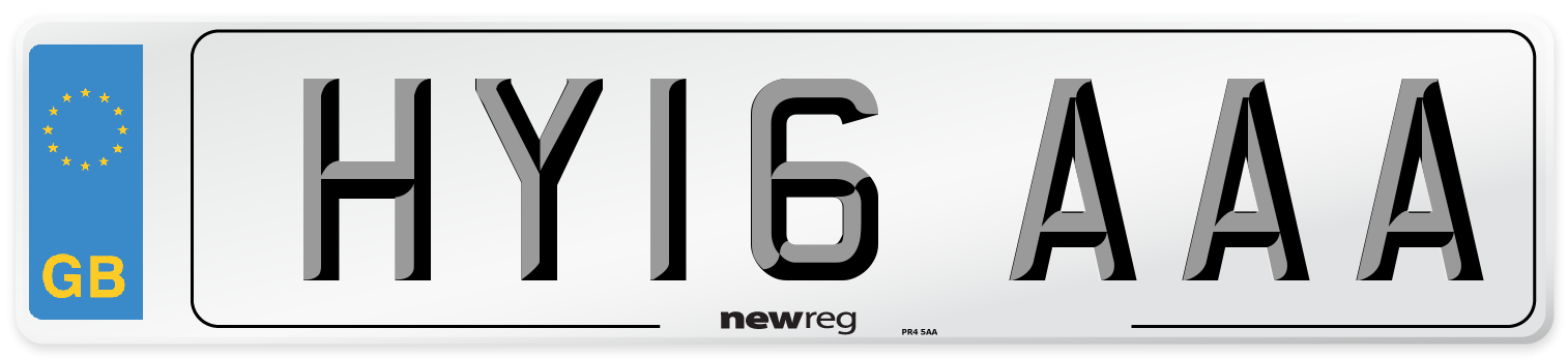 HY16 AAA Number Plate from New Reg