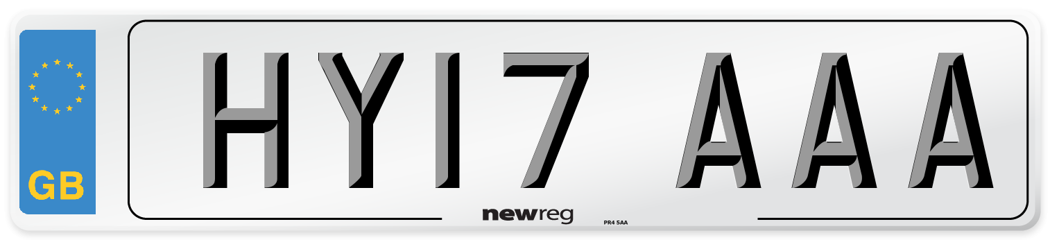 HY17 AAA Number Plate from New Reg