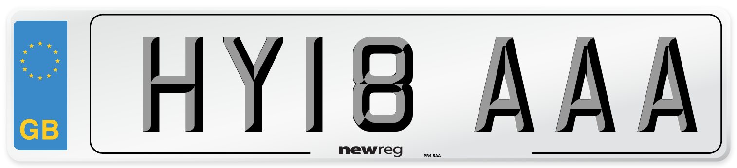 HY18 AAA Number Plate from New Reg