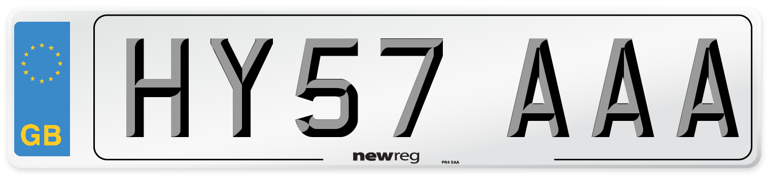 HY57 AAA Number Plate from New Reg