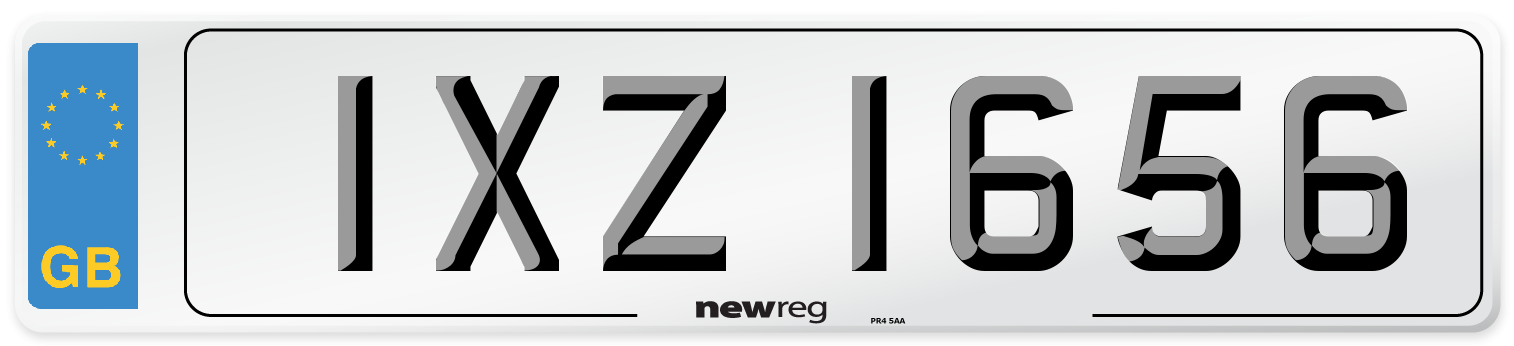 IXZ 1656 Number Plate from New Reg