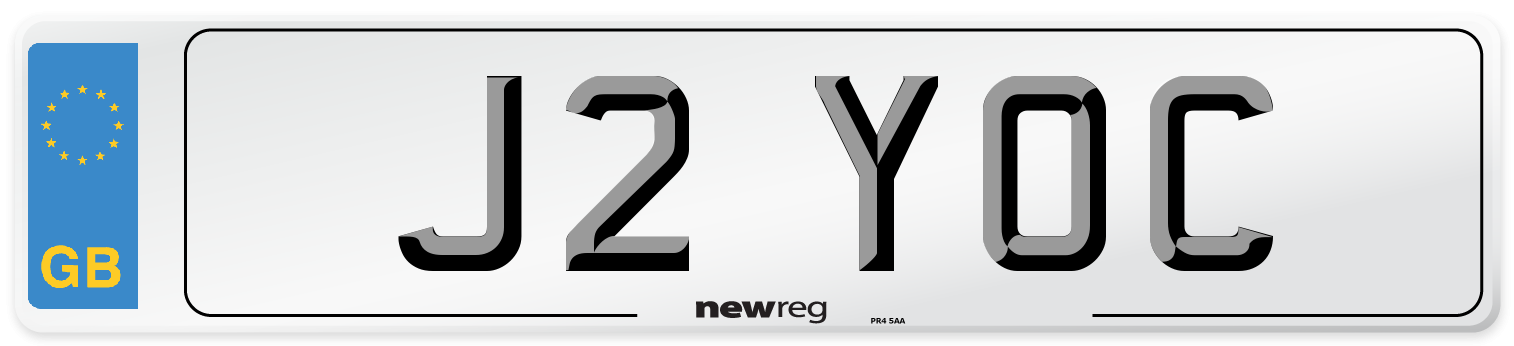 J2 YOC Number Plate from New Reg